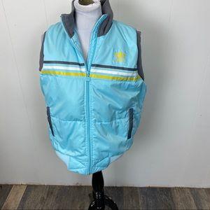 Adidas Aqua Blue Puff Vest